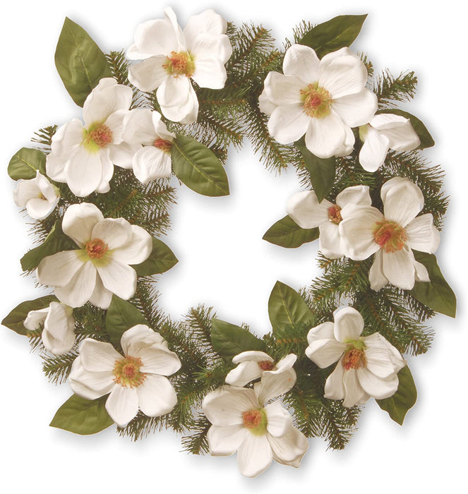 "24"" Cream Magnolia Wreath"