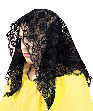 Black Mantilla Lace Scarf