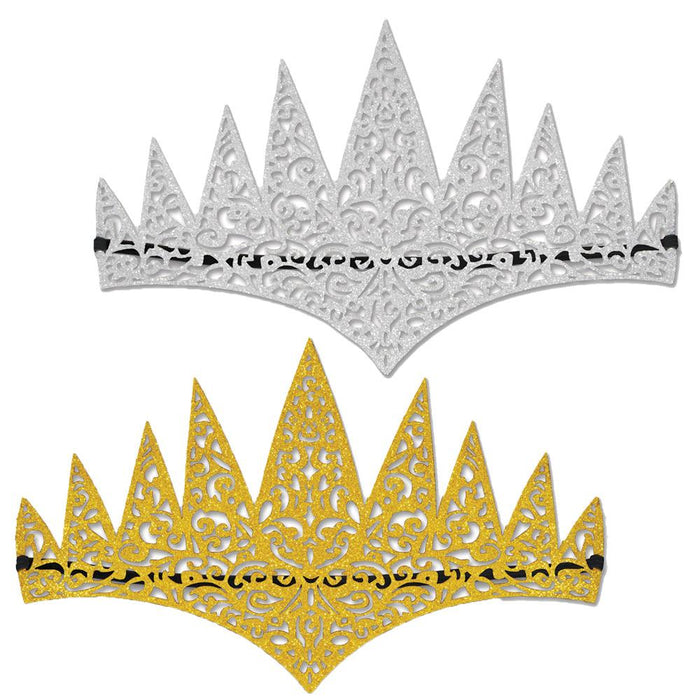 Glittered Tiaras - Holiday-Outfitters