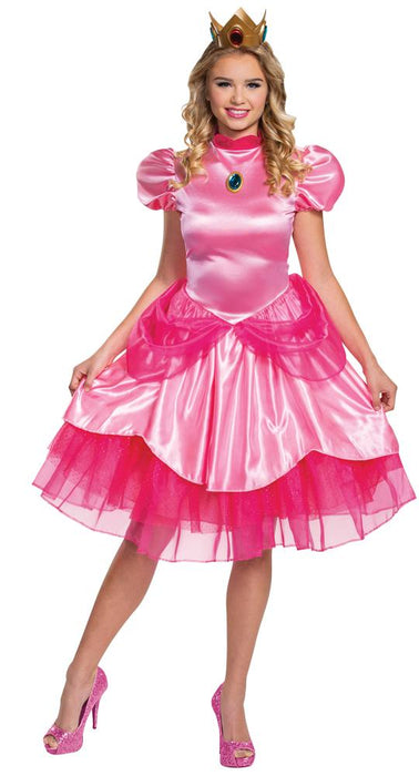Women's Princess Peach Deluxe (2020) Costume - Holiday-Outfitters