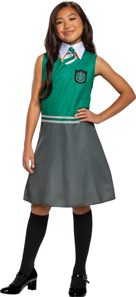 Girl's Slytherin Dress Classic Costume - Holiday-Outfitters