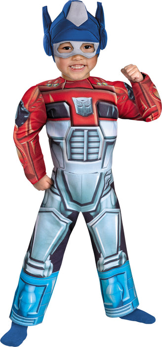 Boy's Optimus Prime Rescue Bot Toddler Muscle Costume