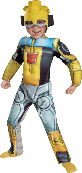 Boy's Bumblebee Rescue Bot Toddler Muscle Costume