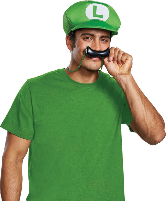 New Luigi Hat & Mustache Necklace - Adult