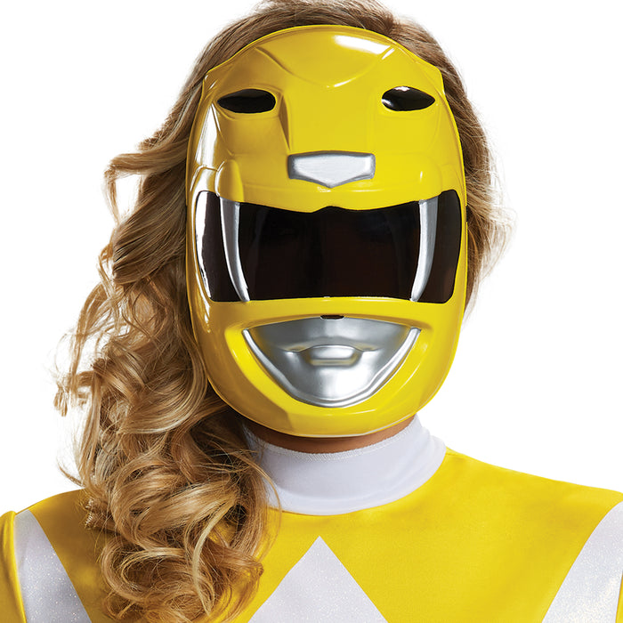 Yellow Ranger Mask - Adult - Mighty Morphin