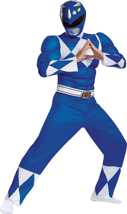 Men's Blue Ranger Classic Muscle Costume - Mighty Morphin