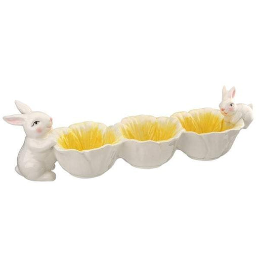 "5"" Rabbit Flower Bowl - Holiday-Outfitters"