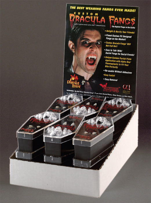 Dracula Fangs Display - 12 Pairs