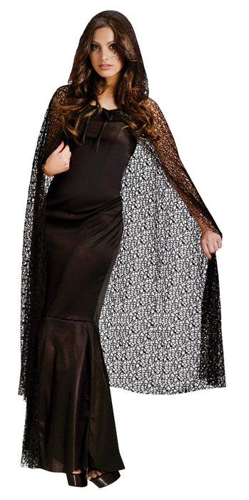 Gothic Net Hooded Adult Cape
