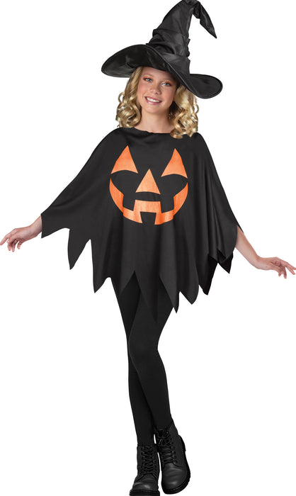 JACK O LANTERN CHILD PONCHO