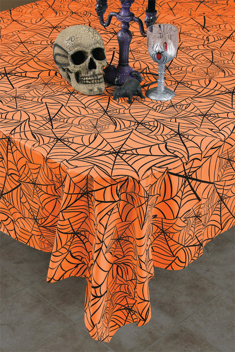 Halloween Cobweb Tablecloth