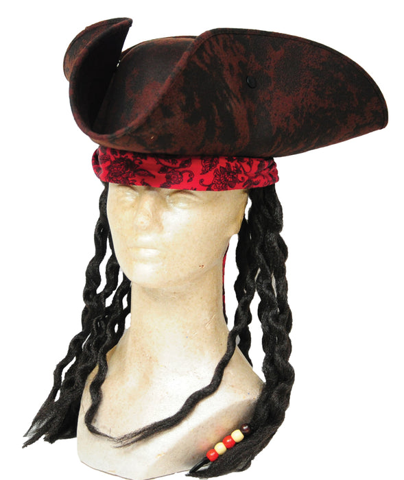 PIRATE HAT BROWN with DREAD