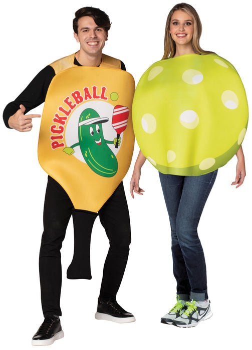 Pickle Ball Paddle/Ball Couple Costume - Adult