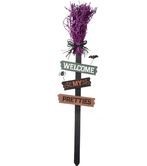 "33"" Purple Halloween stake - Holiday-Outfitters"