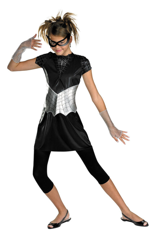 Girl's Black Suited Spider-Girl Costume - Holiday-Outfitters