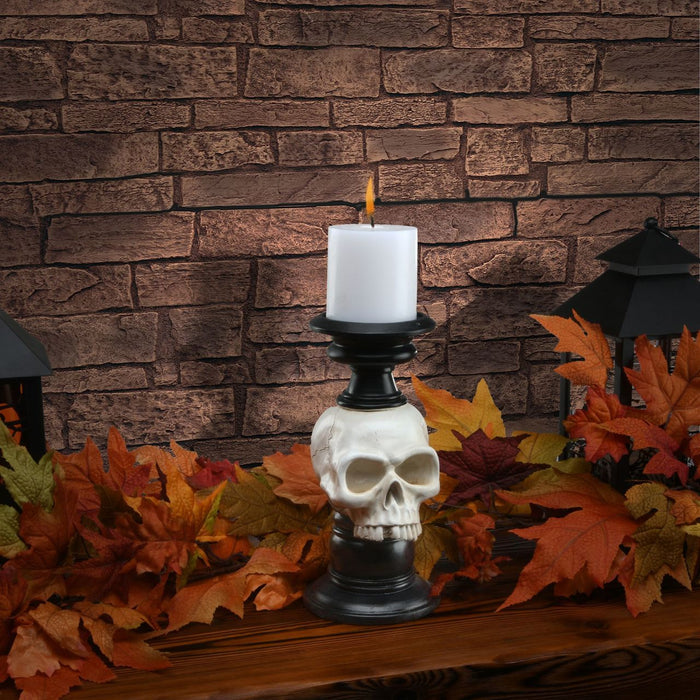 "10"" Skull candle Holder - Holiday-Outfitters"