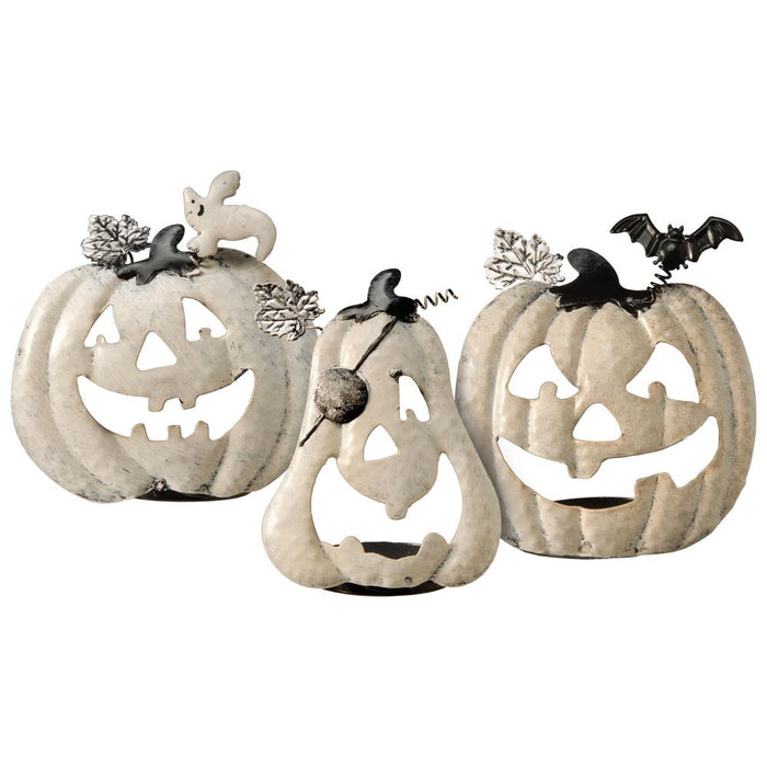 Set of 3 Pumpkin Candle Holders - Holiday-Outfitters