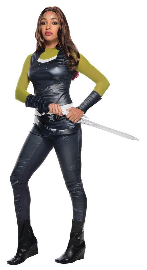 Women's Deluxe Gamora Costume - Guardians Of The Galaxy - Holiday-Outfitters