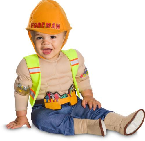 Lil' Construction Worker Costume (6M-12M, 2T-4T) - Holiday-Outfitters