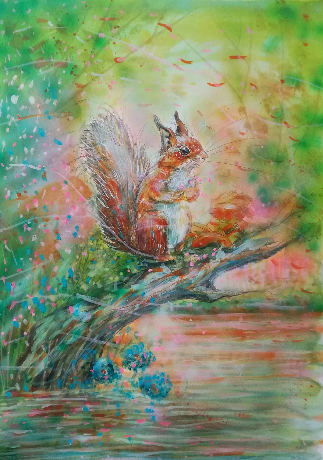 A beautiful red squirrel jigsaw puzzle