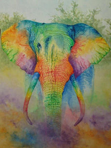rainbow elephant jigsaw puzzle in 500 and 1000 pieces