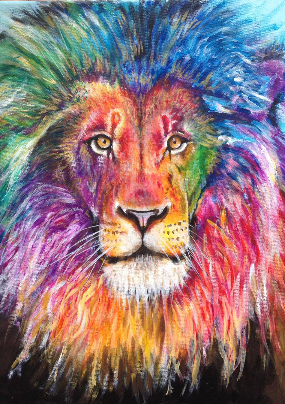 500 piece rainbow lion puzzle