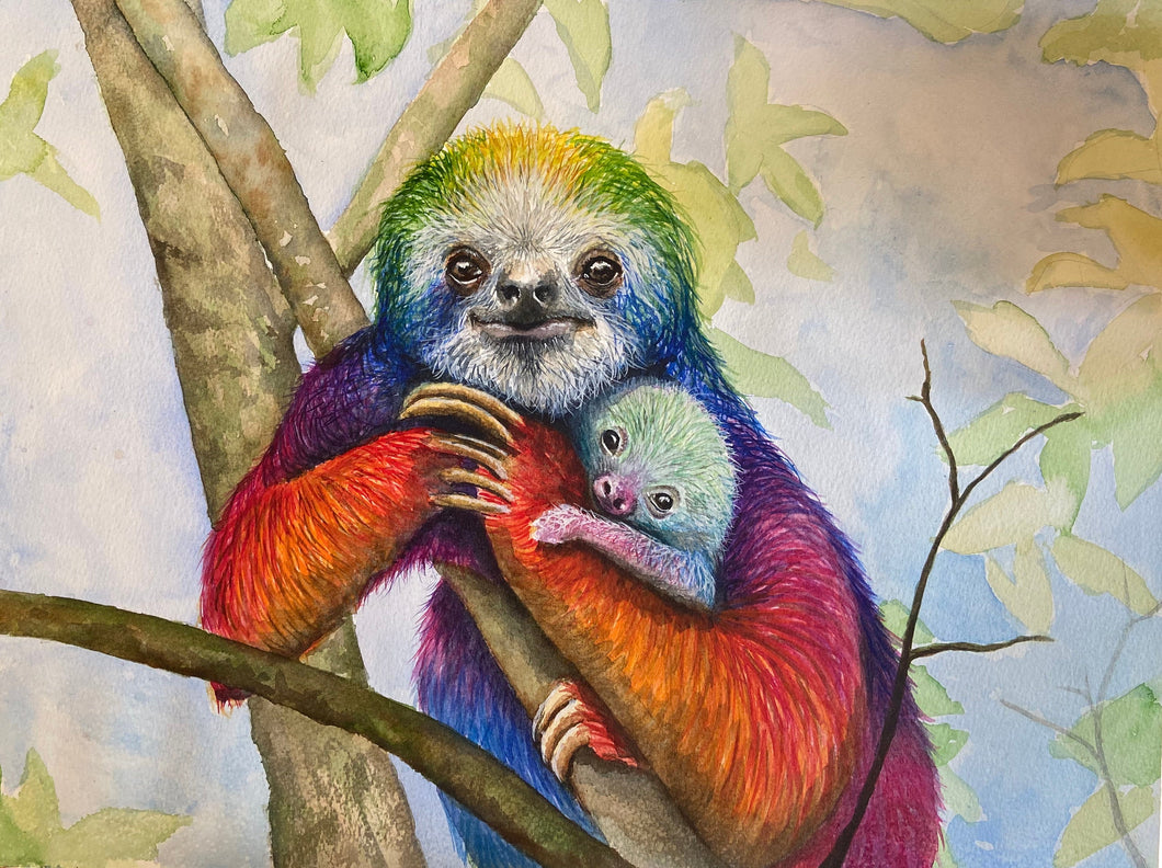 Fun sloth jigsaw puzzle - available in 500 and 1000 pieces and smaller sizes- the perfect gift for adults