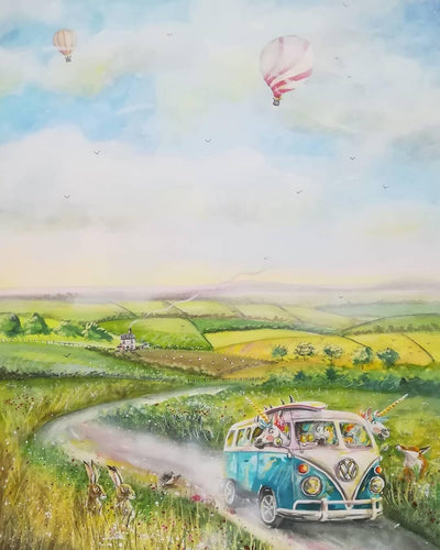 Country side adventures jigsaw puzzle- available in various sizes