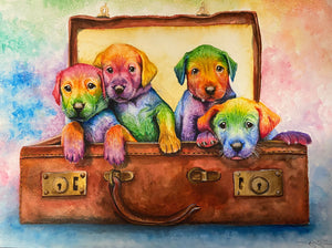 A beautiful puppy puzzle- available in several sizes