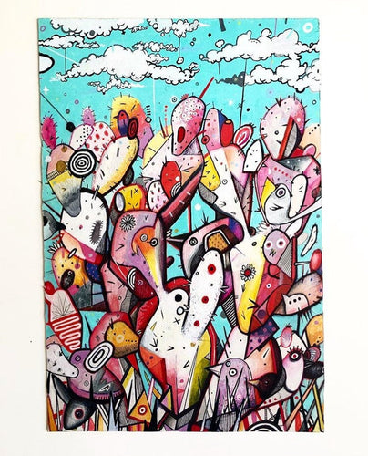 Funky Jigsaw puzzle painted by Miguel Pichardo