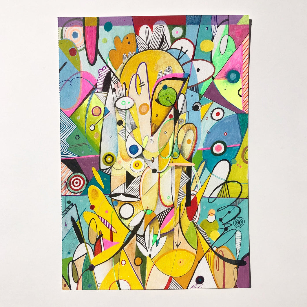 A fun abstract puzzle painted by Miguel Pichardo- available in 500 and 1000 pieces- the perfect gift for adults
