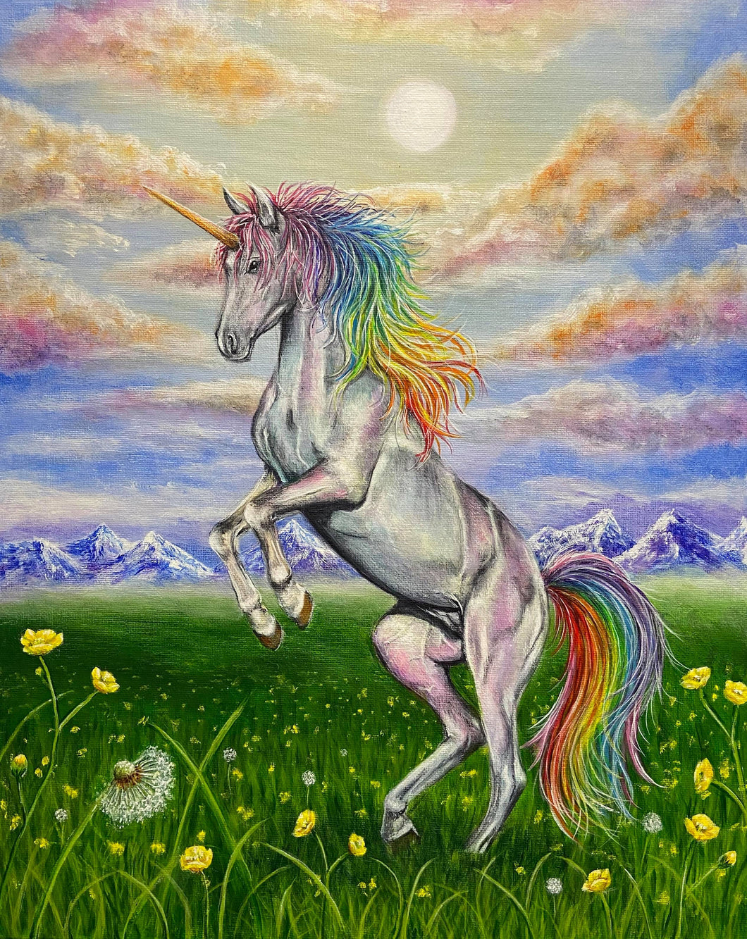 A beautiful rainbow Unicorn Jigsaw Puzzle