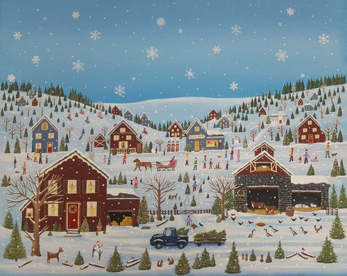 A beautiful winter jigsaw puzzle