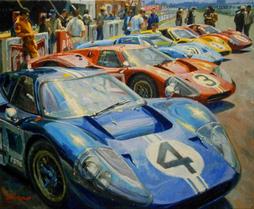 A motor sport jigsaw puzzle painted by Alex Baugleur