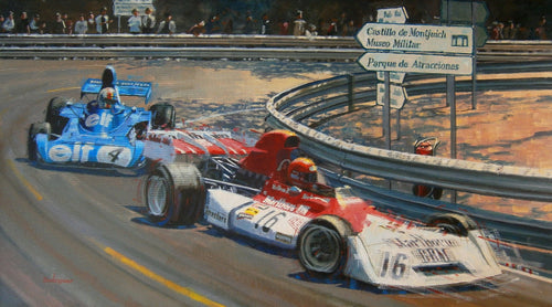 A motorsport jigsaw puzzle painted by Alex Baugleur