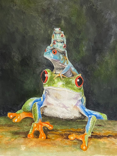 A fun tree frog jigsaw puzzle- various sizes available