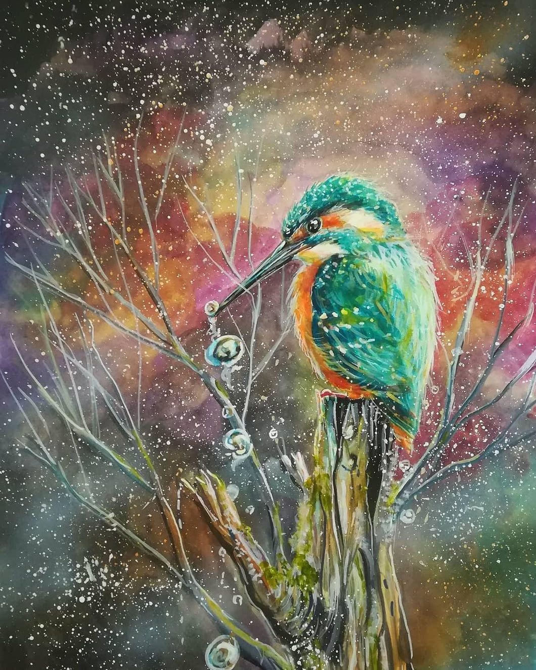 A beautiful kingfisher jigsaw puzzle