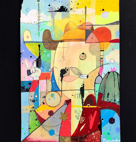 Mexican cowboy a fun abstract jigsaw puzzle