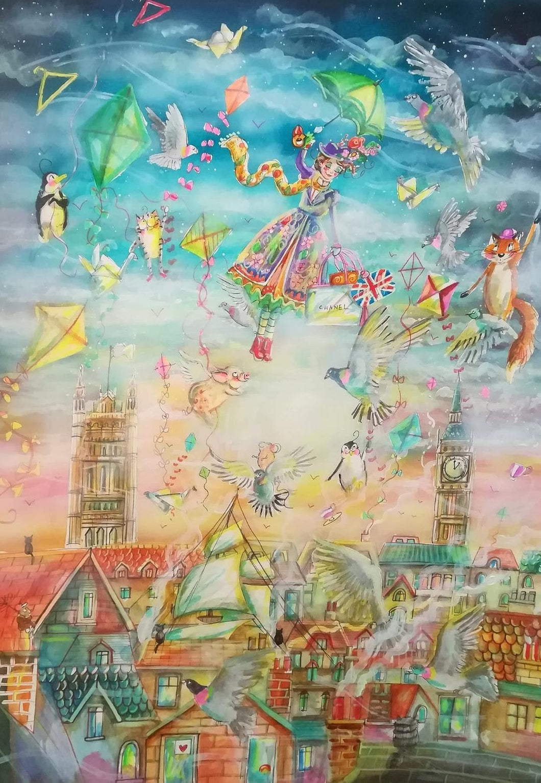 A beautiful Mary Poppins inspired puzzle