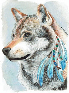 A beautiful wolf Jigsaw puzzle