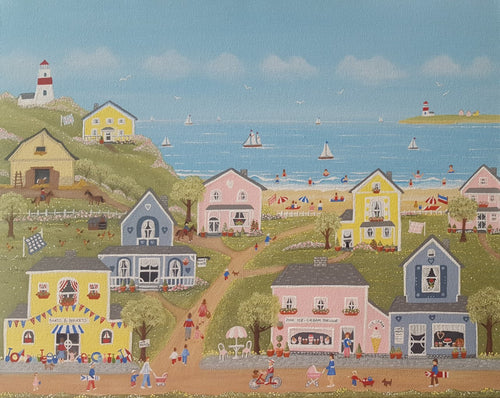 A fun seaside fok Art jigsaw puzzle