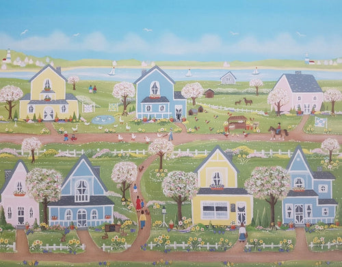 A beautiful village jigsaw puzzle- painter by Sheila roper