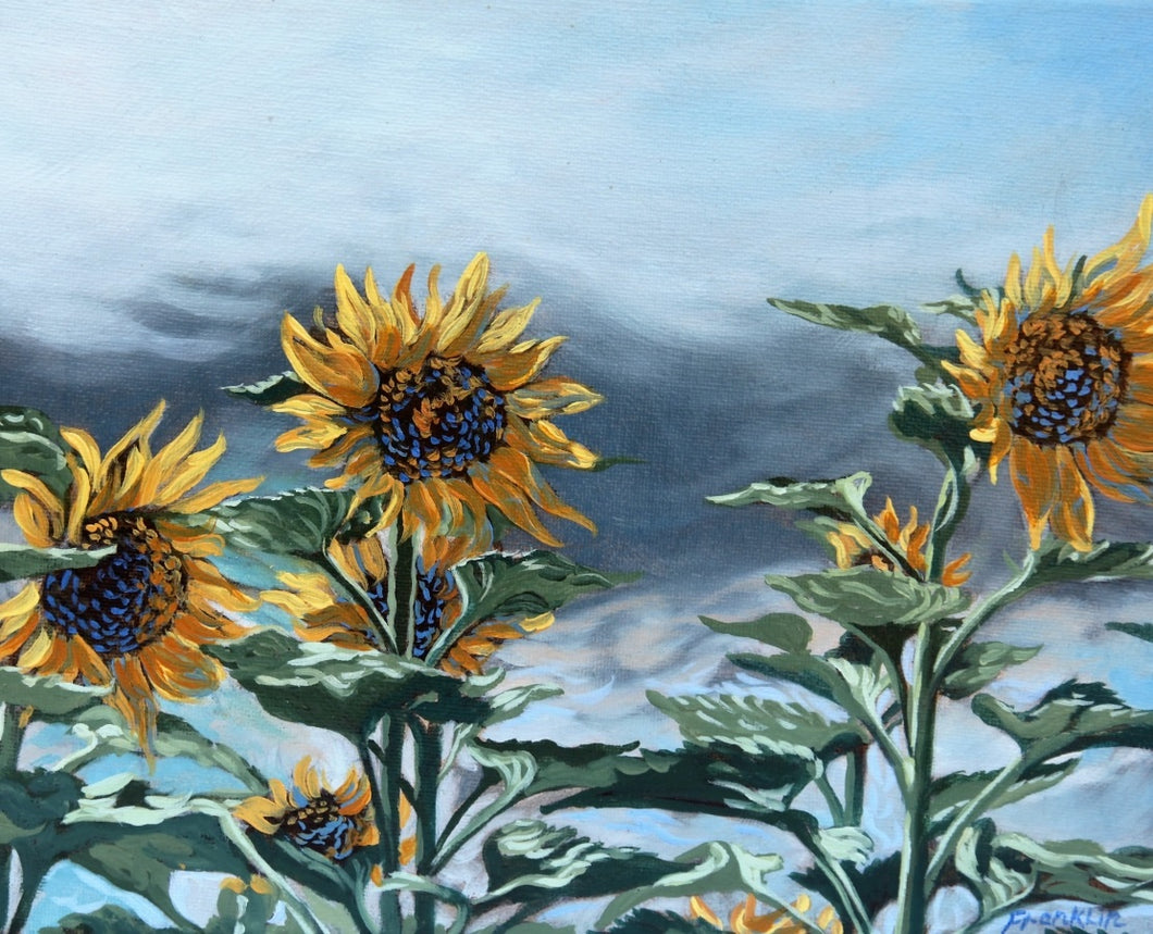 A beautiful Sunflower jigsaw with artworks painted by Dewey Franklin