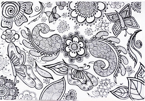 A beautiful Henna Jigsaw puzzle design by Shahida Rashid