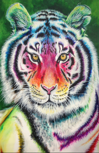 A beautiful Tiger Jigsaw Puzzle by artist Yvonne Jack