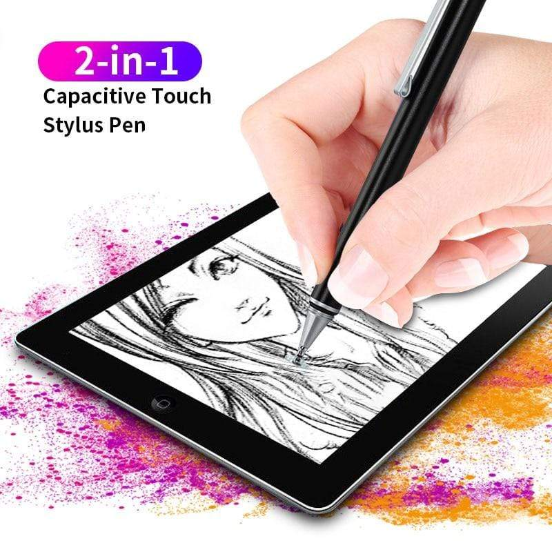 fonken official 2 In 1 Stylus For Smartphone Tablet Thick Thin Drawing Capacitive  Touch Pen