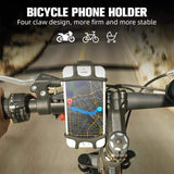 fonken official Black holder Bicycle Phone Holder Universal Silicone Mountain Bike Motorcycle Mobile Holder Stands