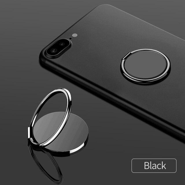 fonken official Black ring holder Finger Ring For Phone Magnetic Holder Fold Smartphone Circle Stand Ultra