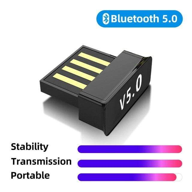 fonken official mini 5.0 USB Bluetooth Adapter V5.0 Wireless Dongle Computer PC Laptops Bluetooth Transmitter