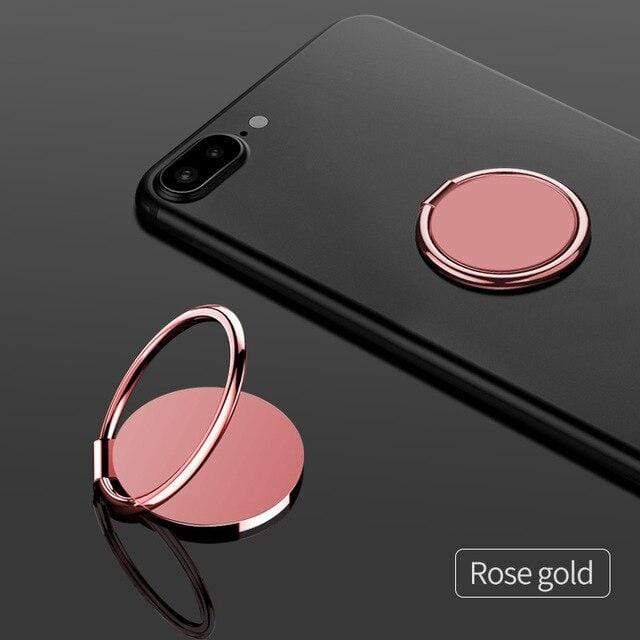 fonken official Rose Gold holder Finger Ring For Phone Magnetic Holder Fold Smartphone Circle Stand Ultra